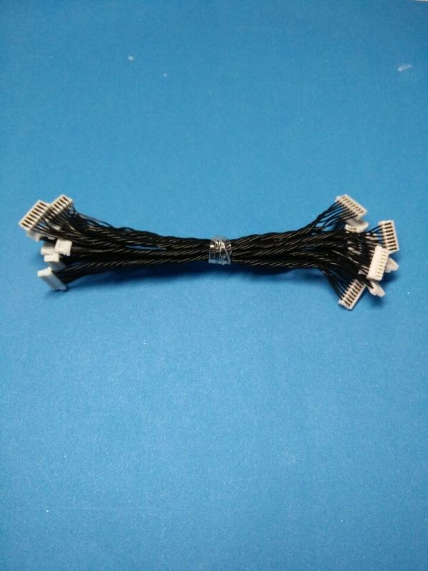 Black Wire Harness Cable Assembly Equivalent Of JST 0.8mm Pitch Crimping Connector