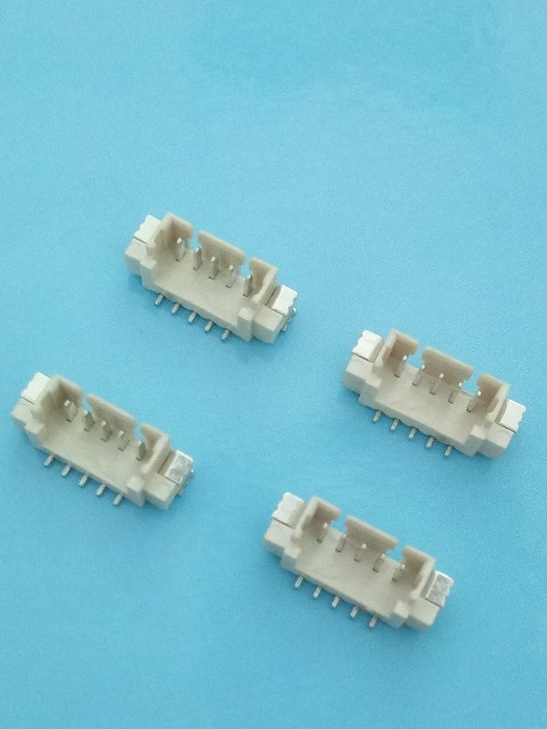 1.25mm Pitch SMT Vertical Type PCB Header Connector With PA66 Housing Beige Color